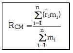 Cálculo del Centro de Masas de un Sistema de Masas Discreto