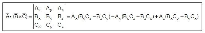 Producto Triple de vectores