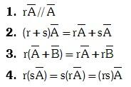 Propiedades de la Multiplicación por un escalar:
