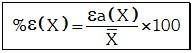 Formula de Error Porcentual