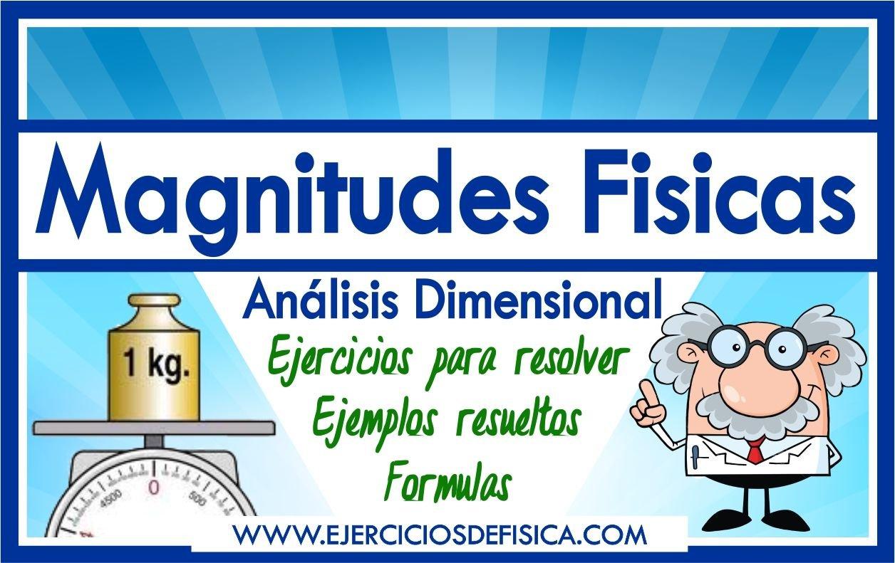 Ejercicios de Magnitudes Fisicas
