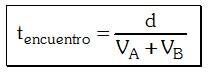 Formula de Tiempo de Encuentro