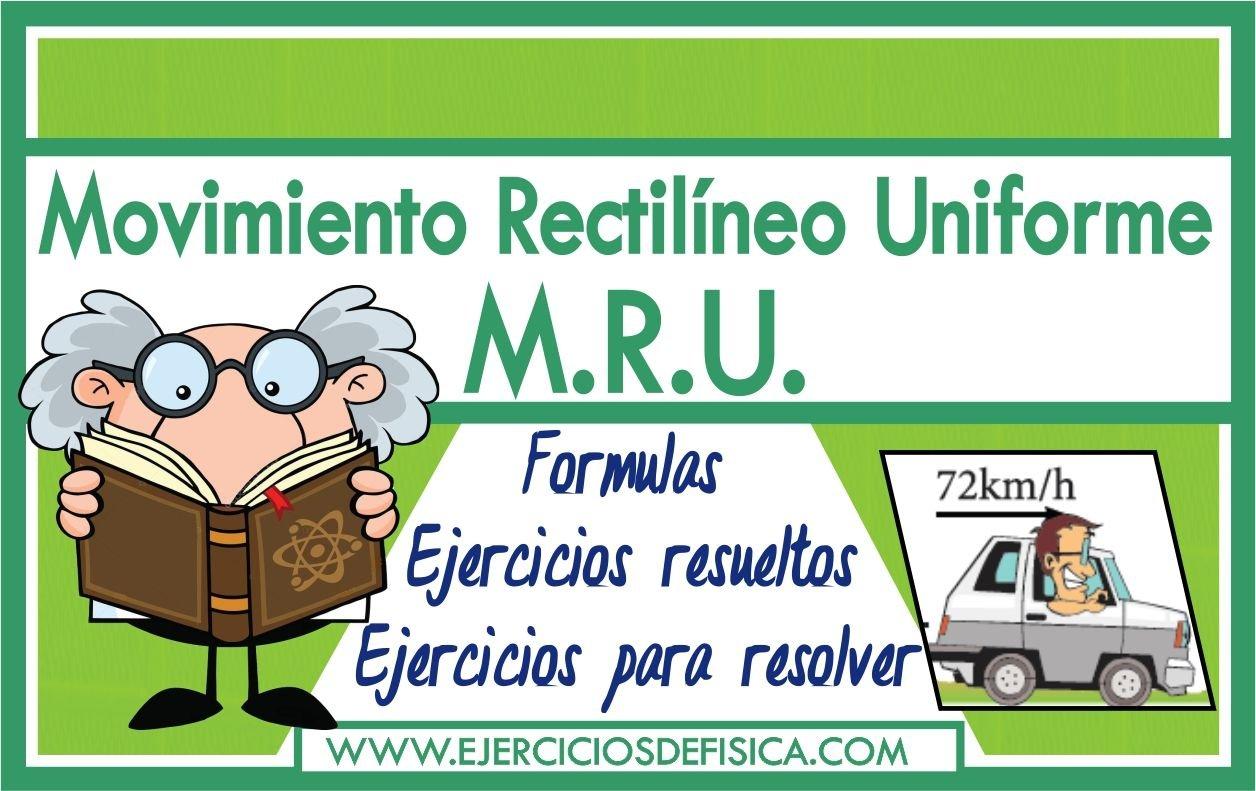 Ejercicios de MRU