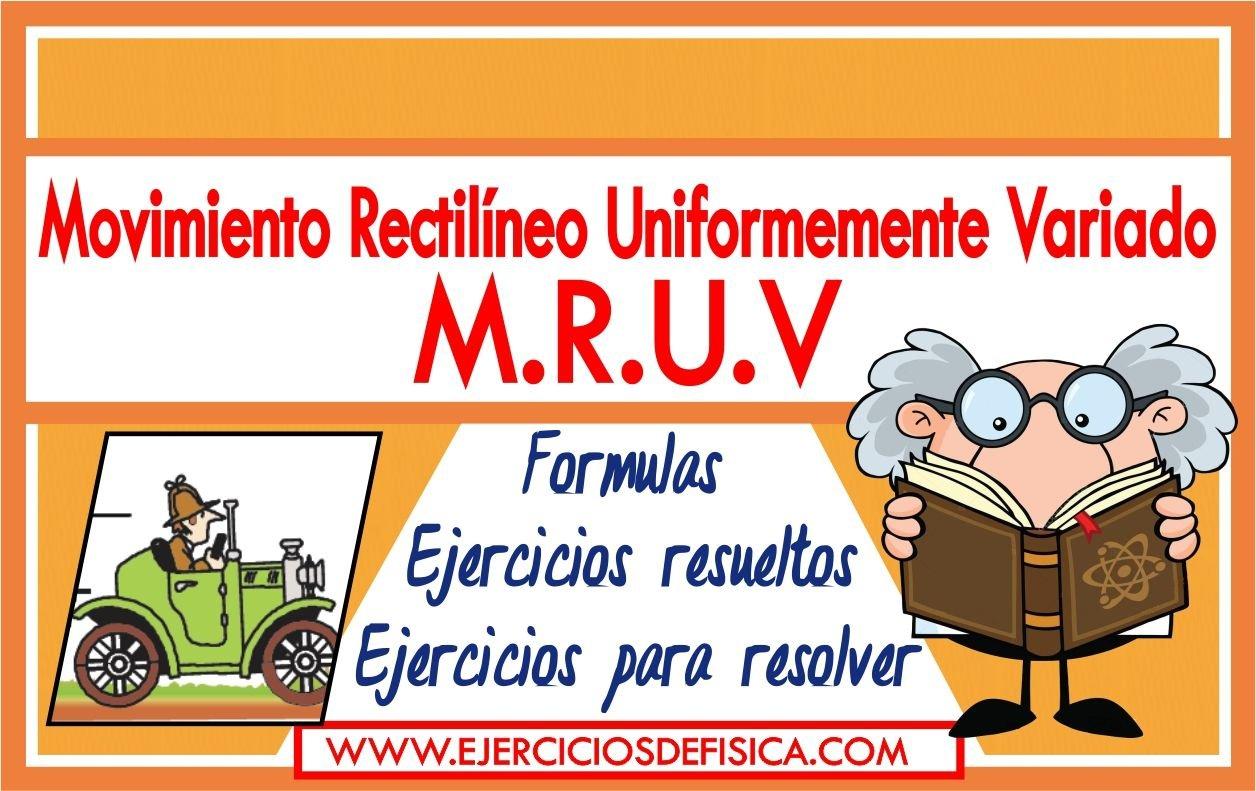 Ejercicios de MRUV